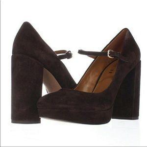 COACH 8.5 Brown Suede Heels